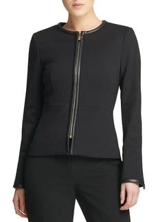 DKNY Donna Karan Fall 18 Ponte Zip Jacket