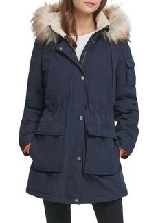 DKNY Donna Karan Faux-Fur Hooded Parka