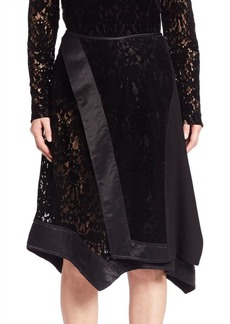DKNY Faux Wrap Lace Skirt