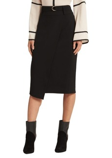 DKNY Donna Karan Faux Wrap Pencil Skirt