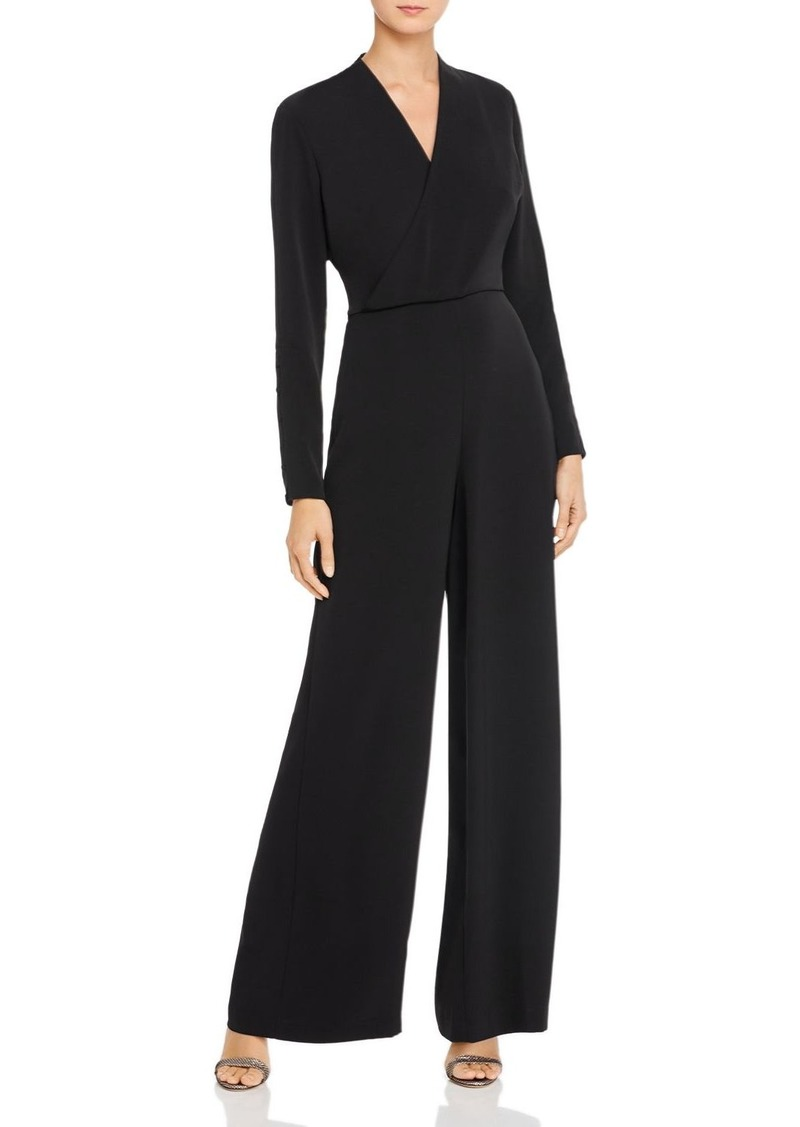 DKNY Donna Karan Faux-Wrap Wide-Leg Jumpsuit