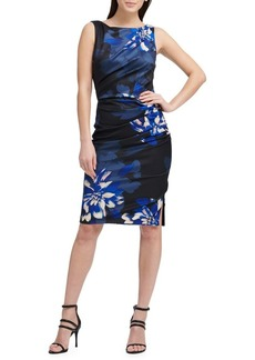 DKNY Donna Karan Floral Sleeveless Sheath Dress