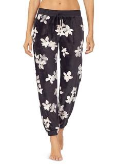 DKNY Donna Karan Floral Velour Jogger Pants