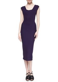 Donna Karan Fluid Crepe Sheath Dress