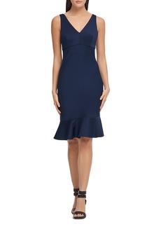 DKNY Donna Karan Fluted Scuba Dress