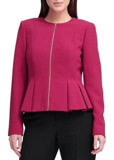 DKNY Donna Karan Full-Zip Peplum Jacket