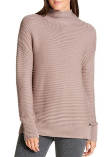 DKNY Donna Karan Funnel Neck Ribbed Sweater