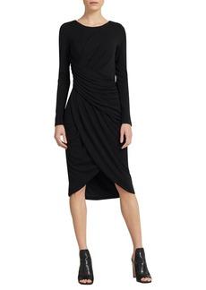 DKNY Donna Karan Gathered Tulip-Hem Dress