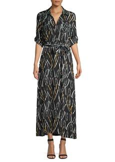 DKNY Donna Karan Geometric-Print Shirtdress