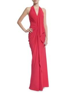 DKNY Donna Karan Halter-Neck Backless Evening Gown
