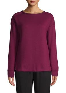 DKNY Donna Karan High-Low Long-Sleeve Top