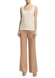 Donna Karan High-Waist Wide-Leg Pants