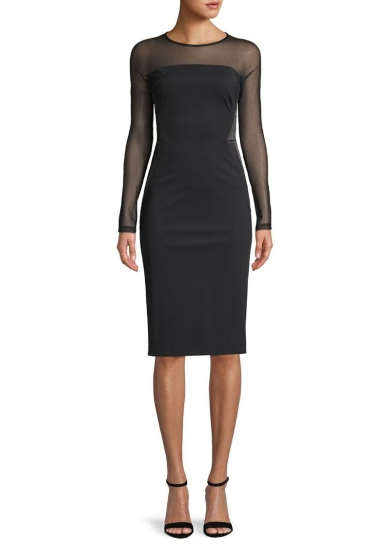 DKNY Donna Karan Illusion Bodycon Dress