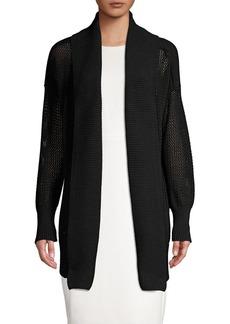 DKNY Donna Karan Knit Open Front Cardigan