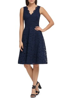 DKNY Donna Karan Lace Fit-and-Flare Dress