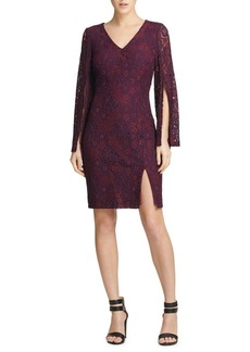 DKNY Donna Karan Lace Split-Sleeve Sheath Dress