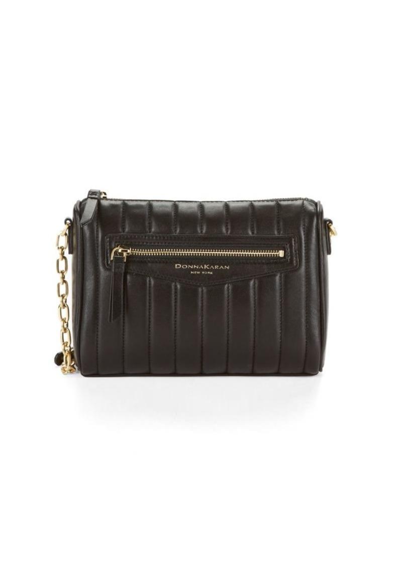 DKNY Donna Karan Leather Crossbody Bag  d78482fe243f0