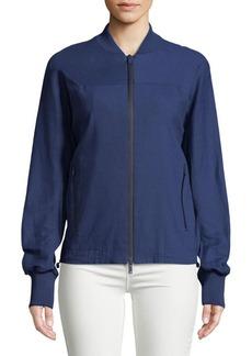 DKNY Donna Karan Linen-Blend Bomber Jacket