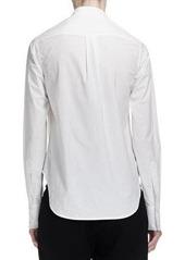 DKNY Donna Karan Long-Cuffed Poplin Tuxedo Blouse