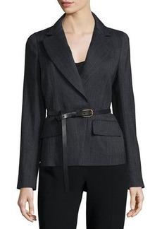 Donna Karan Long-Sleeve Belted Jacket