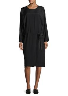 DKNY Donna Karan Long Sleeve Cinch Waist Dress