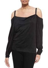 DKNY Donna Karan Long-Sleeve Cold-Shoulder Blouse