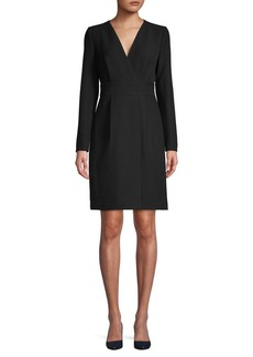 DKNY Donna Karan Long Sleeve Faux Wrap Dress