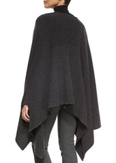 DKNY Donna Karan Midweight Ribbed Cashmere Poncho
