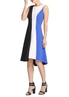 DKNY Donna Karan Multi-Color Fit-&-Flare Dress