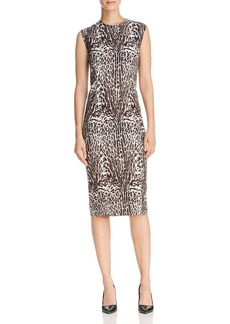 Donna Karan New York Animal Print Sheath Dress