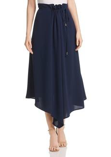 DKNY Donna Karan New York Asymmetric Draped Midi Skirt