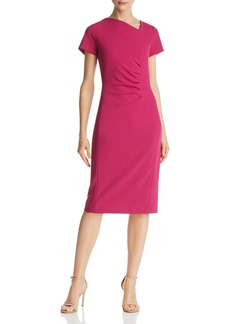 DKNY Donna Karan New York Asymmetric Pleated Scuba Dress