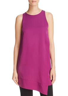 DKNY Donna Karan New York Asymmetric Sleeveless Silk Tunic