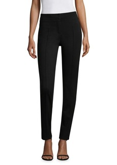 DKNY Back-Seam Cropped High-Rise Pants