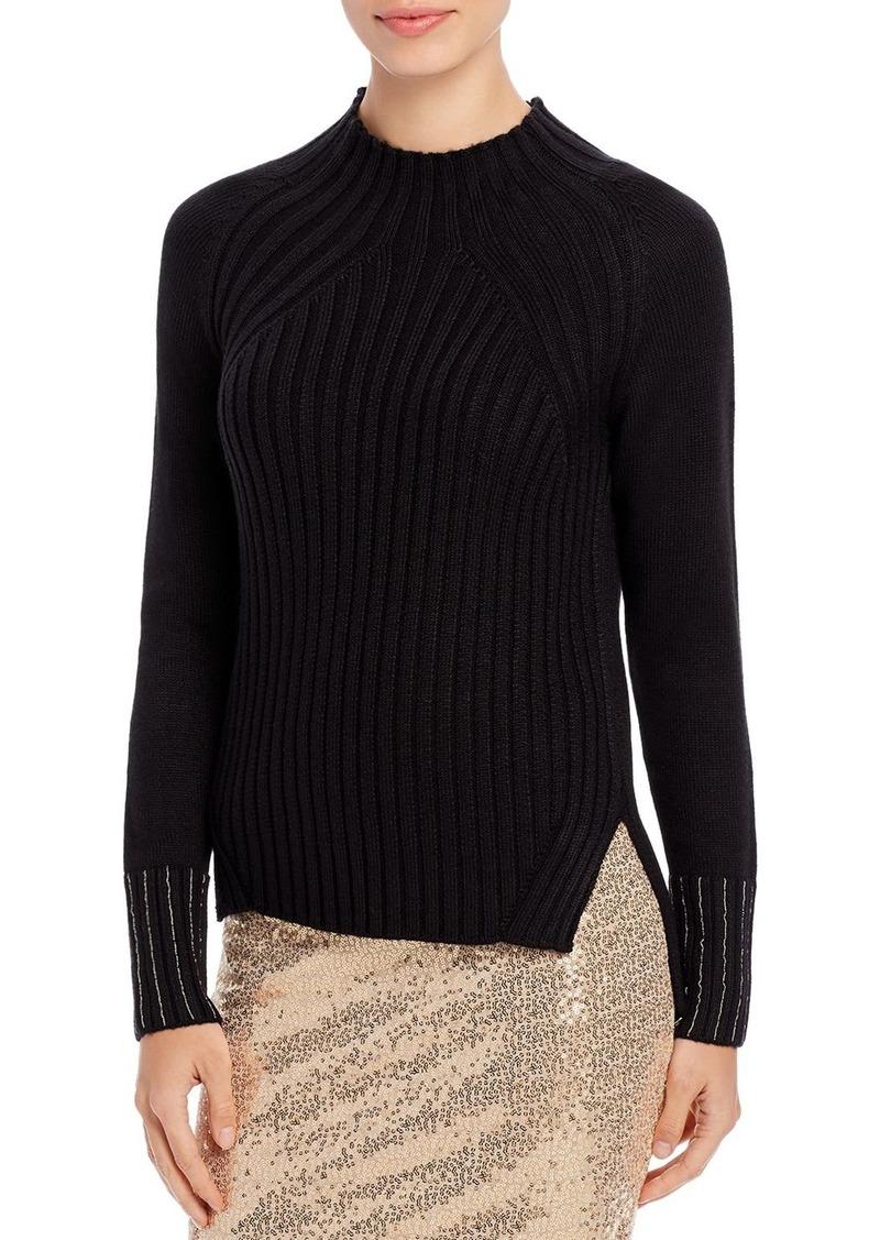 DKNY Donna Karan New York Beaded-Sleeve Sweater