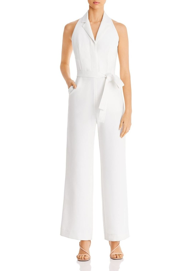 DKNY Donna Karan New York Belted Tuxedo Jumpsuit