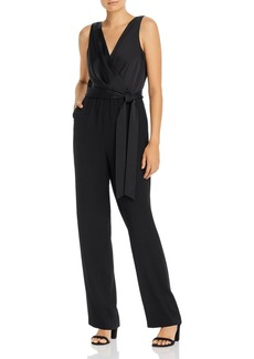 DKNY Donna Karan New York Belted V-Neck Jumpsuit