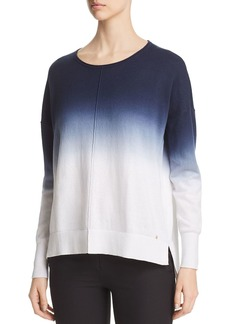 DKNY Donna Karan New York Boat Neck Dip-Dyed Sweater