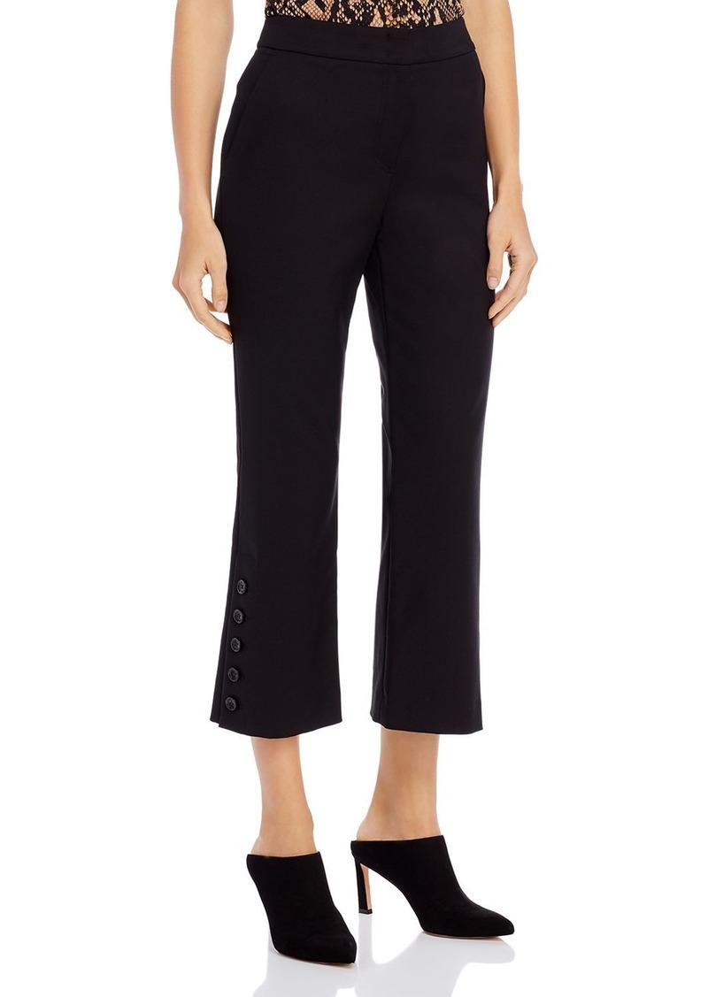 DKNY Donna Karan New York Buttoned-Hem Kick-Flare Pants