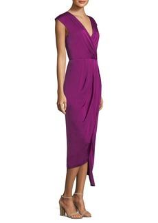 DKNY Donna Karan New York Cap Sleeve Gathered Hi-Lo Dress