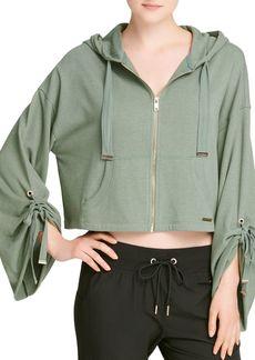 DKNY Donna Karan New York Cinched-Sleeve Zip Hoodie