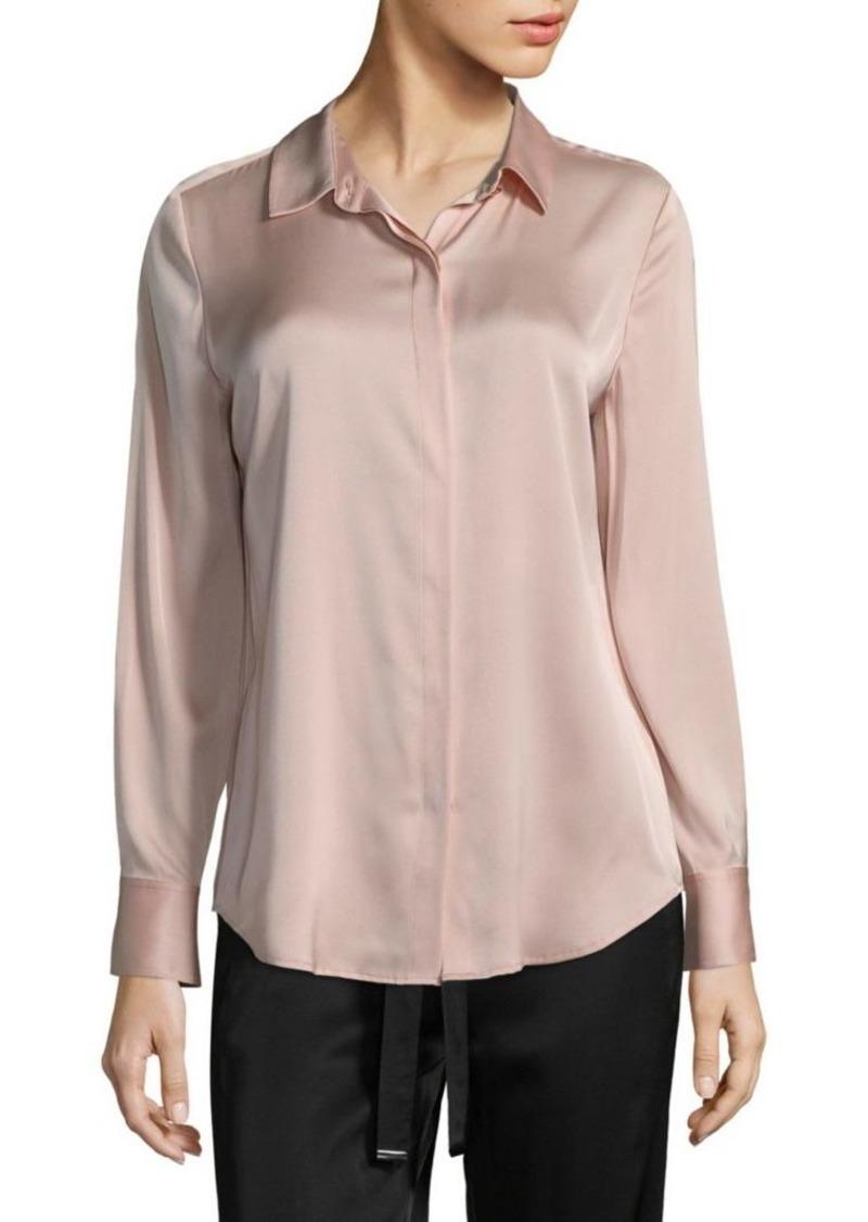 3eb141e3bd234 DKNY Classic Silk-Blend Blouse