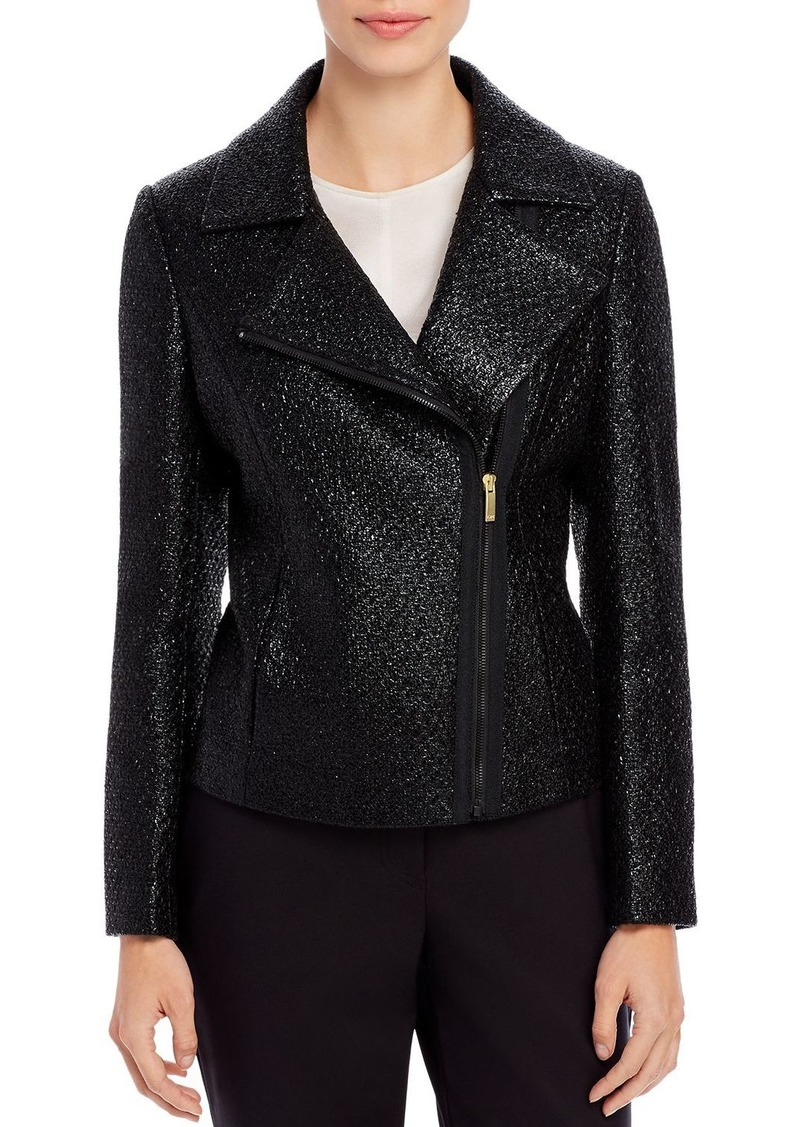 DKNY Donna Karan New York Coated Moto Jacket
