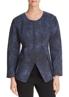 Donna Karan New York Collarless Split-Front Jacket