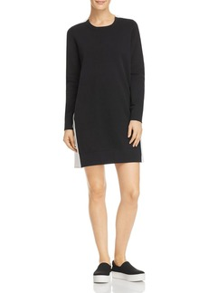 DKNY Donna Karan New York Cotton French Terry Contrast Dress