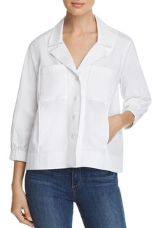 DKNY Donna Karan New York Cropped Button-Front Jacket