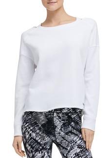 DKNY Donna Karan New York Distressed Cutout Sweatshirt