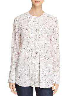 DKNY Donna Karan New York Dot Print Long Sleeve Blouse