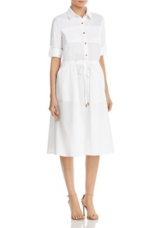 DKNY Donna Karan New York Drawstring Waist Shirt Dress