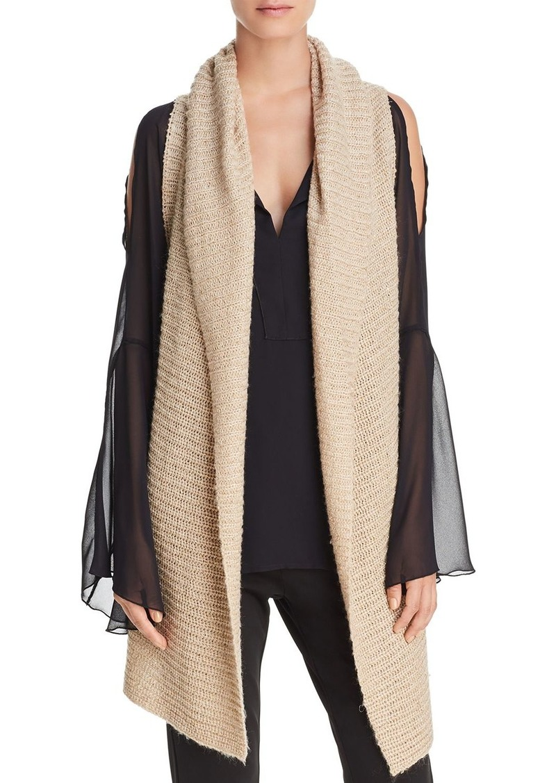 clothing gallery wool natural draped sweater cardigan in ivory lyst vince yak drapes product ribbed